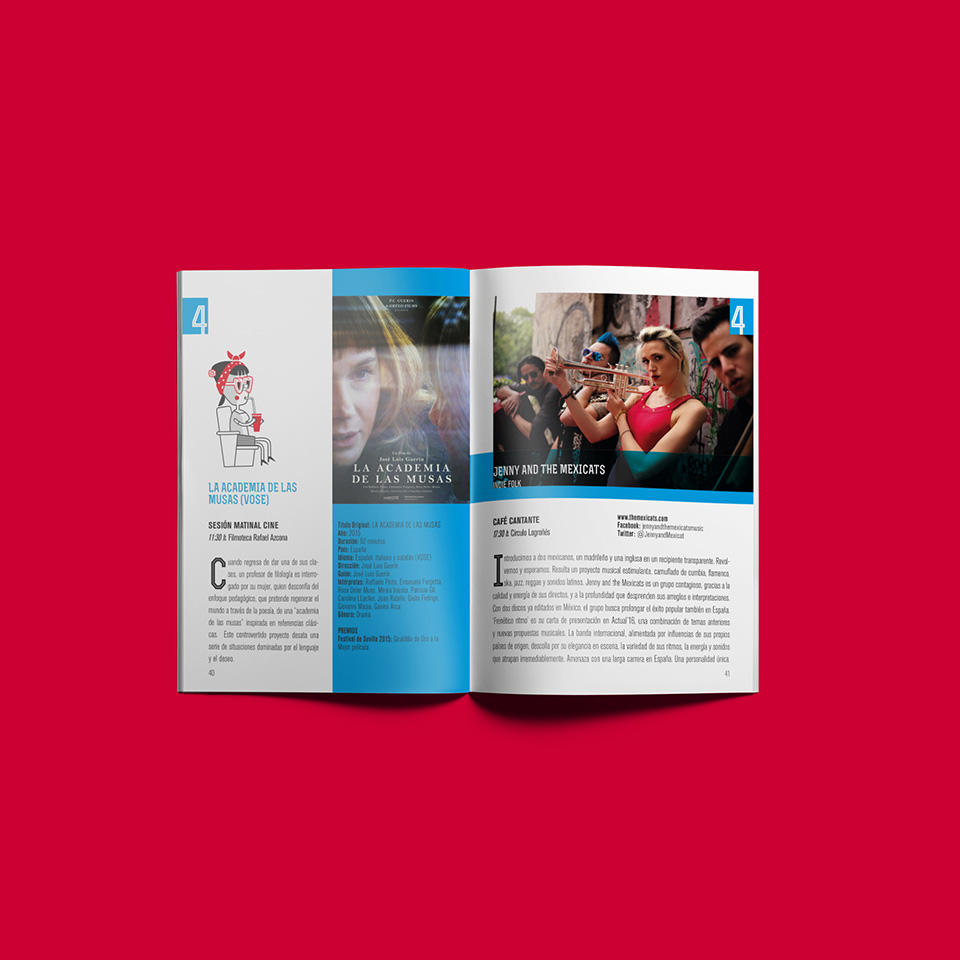 Diseño folleto Festival Actual 2016