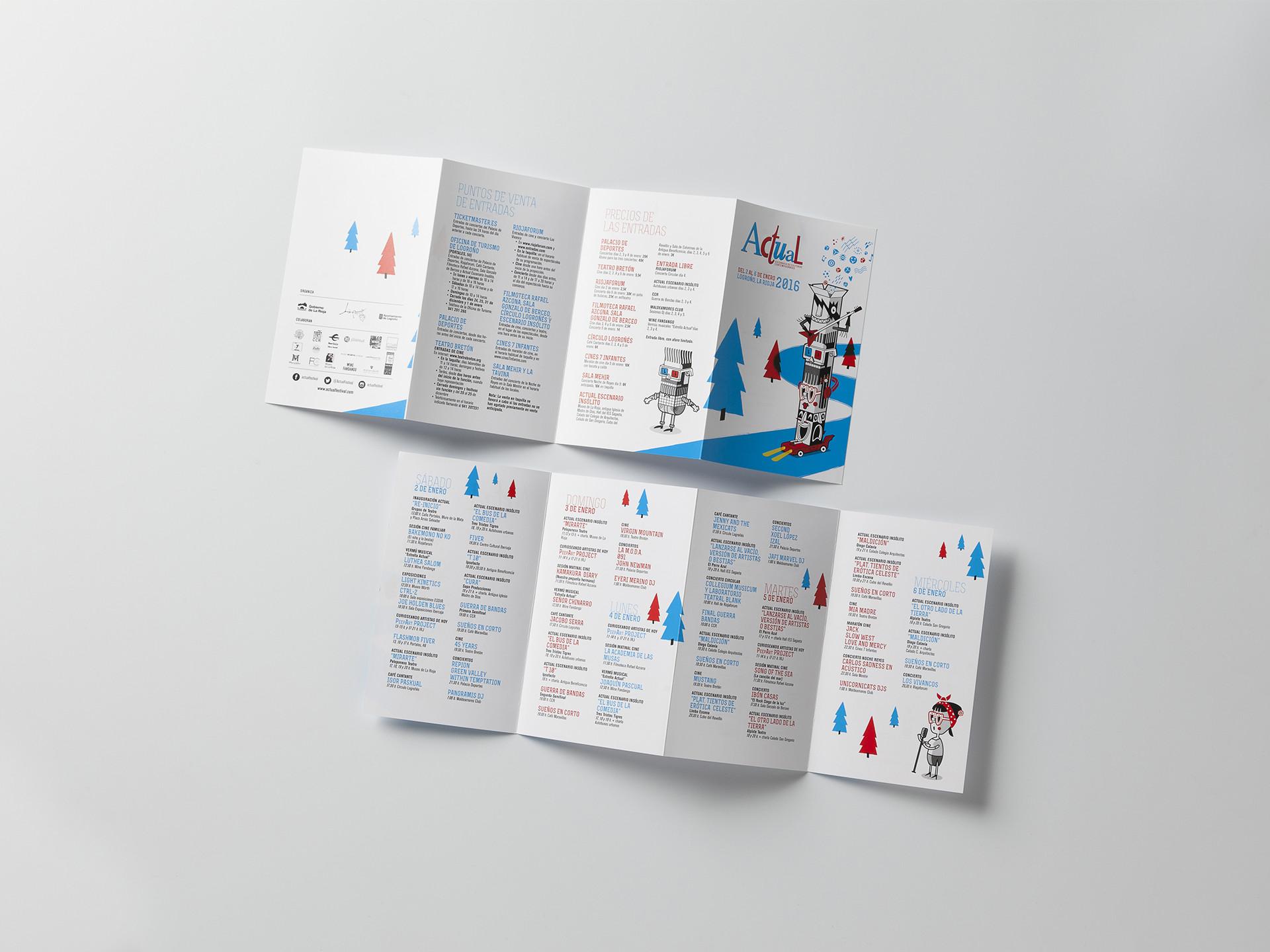 Diseño folleto programación reducida Actual