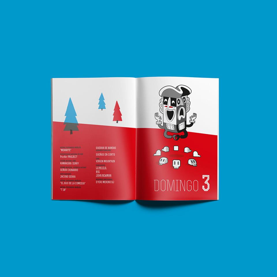 Diseño separata programa Festival Actual