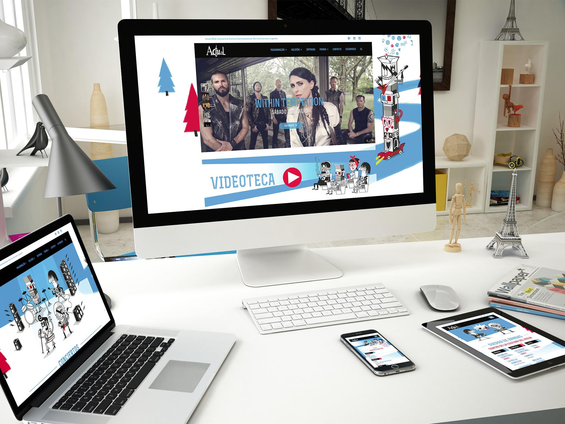 Diseño web responsive Festival Actual 16