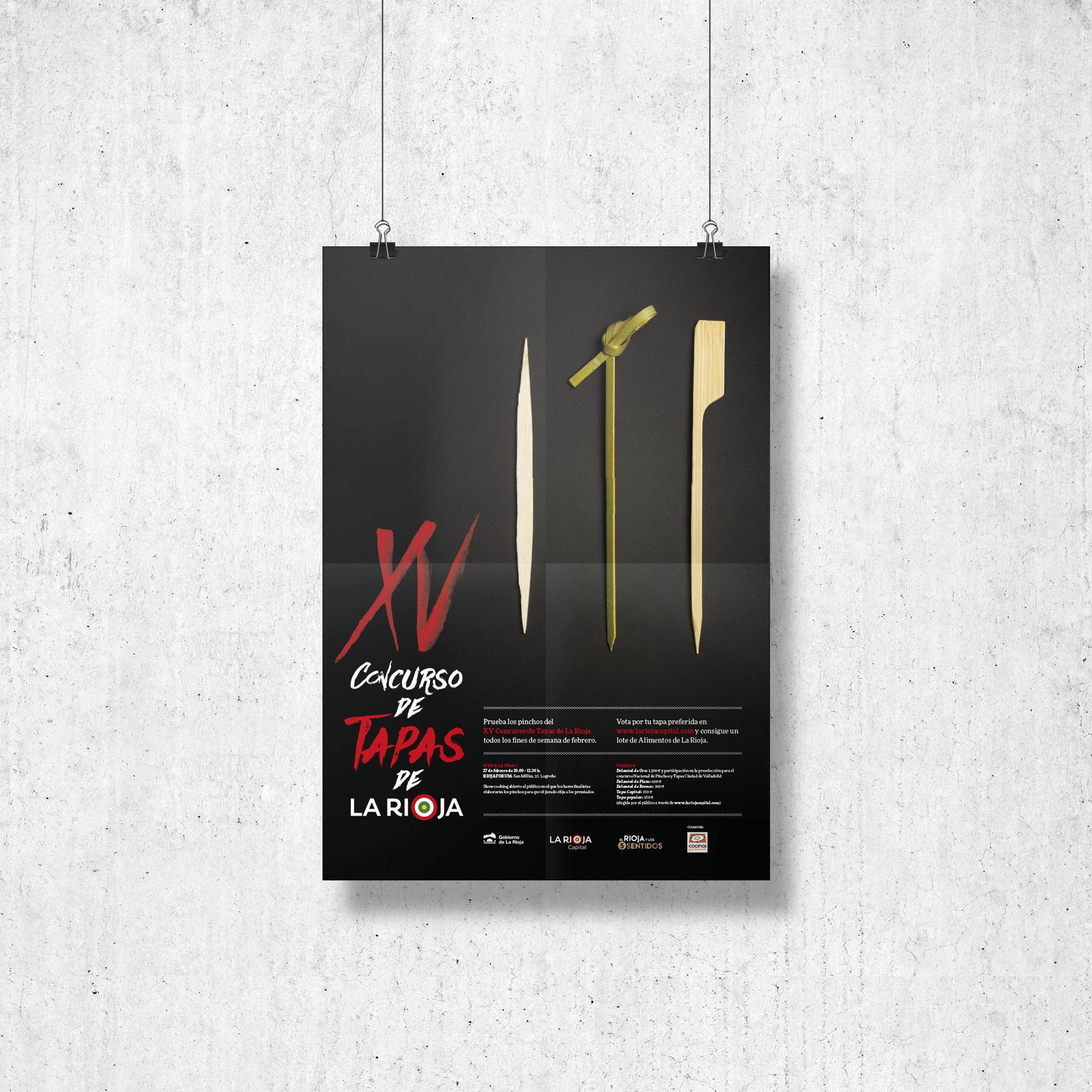 Cartel campaña XV concurso tapas La Rioja 2016