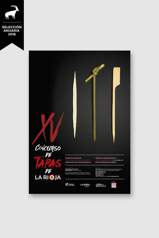 Diseño campaña XV concurso tapas La Rioja 2016 selección Anuaria 2016