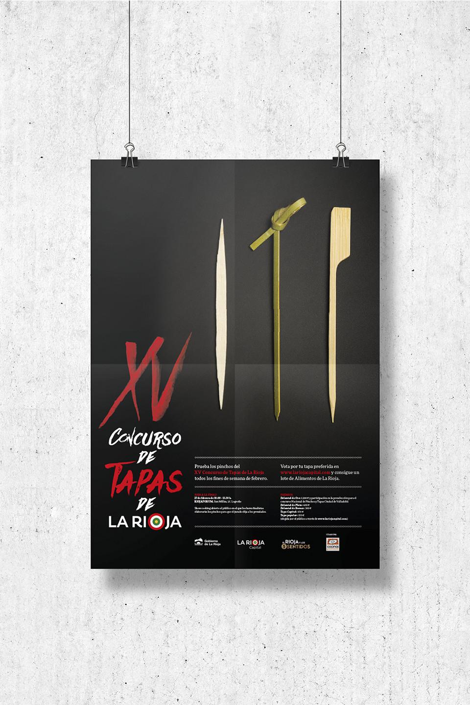 Diseño campaña XV concurso tapas La Rioja 2016