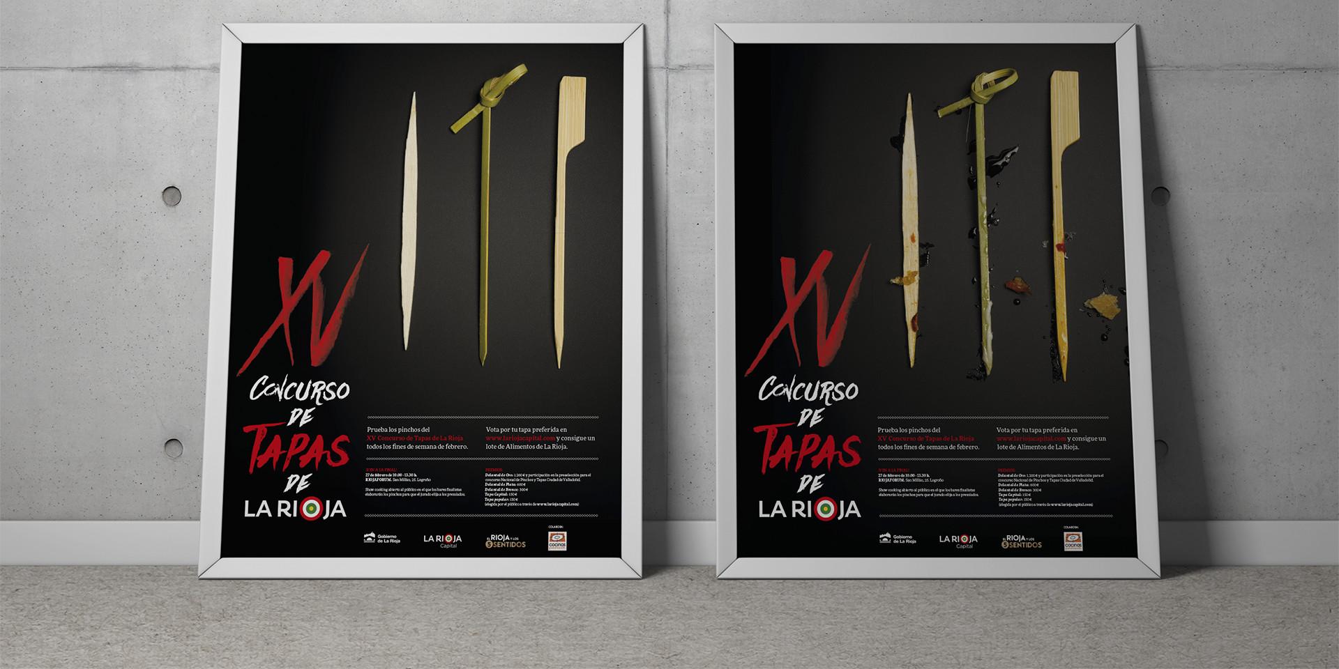 Diseño carteles XV concurso tapas La Rioja