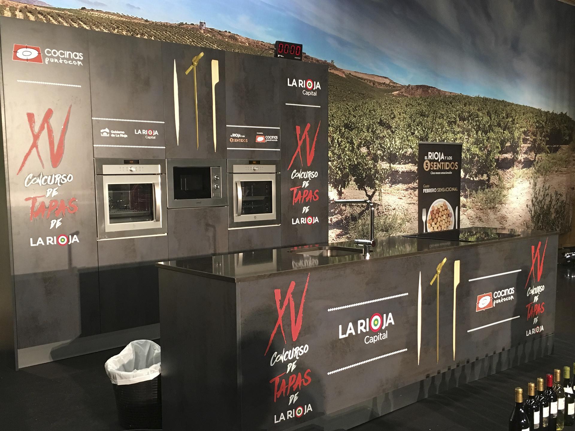 Diseño cocina evento XV concurso tapas La Rioja