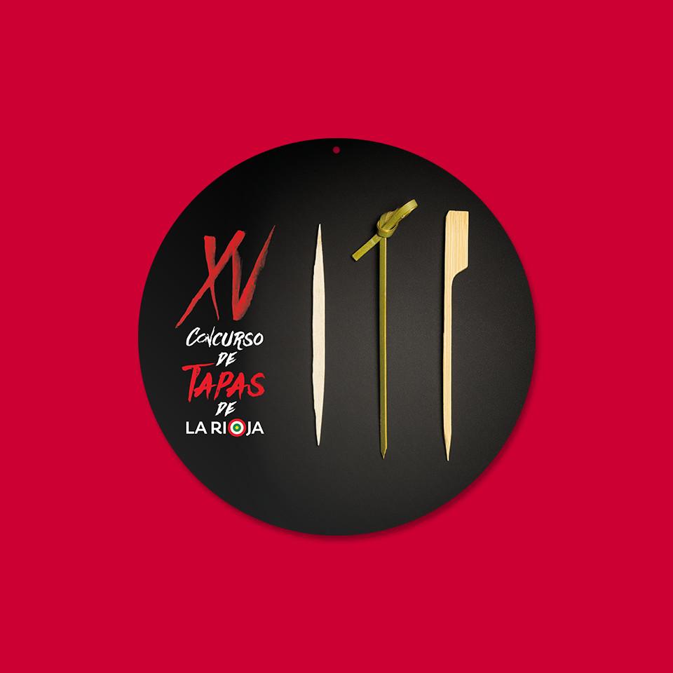 Diseño display XV concurso tapas La Rioja