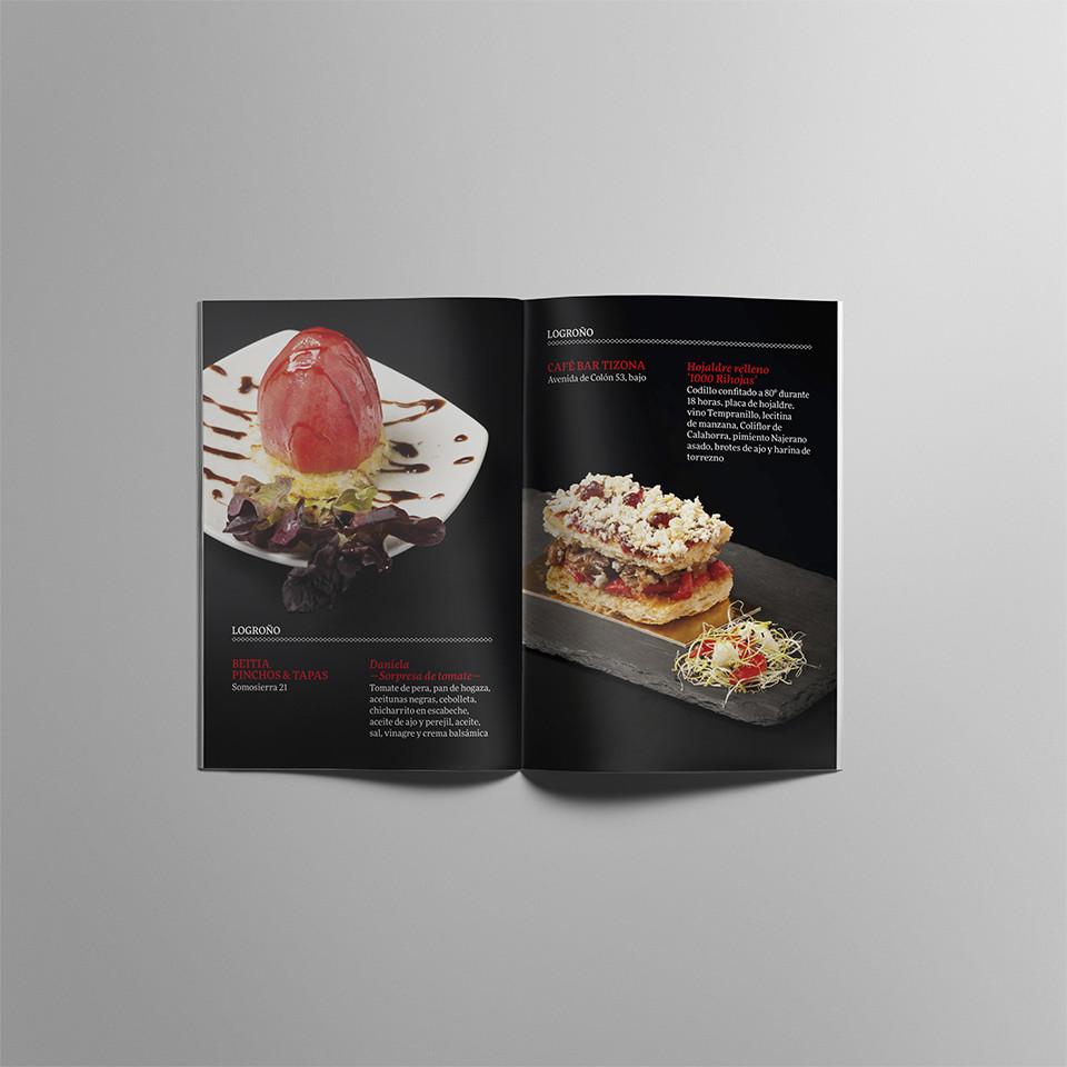 Diseño folleto XV concurso tapas La Rioja
