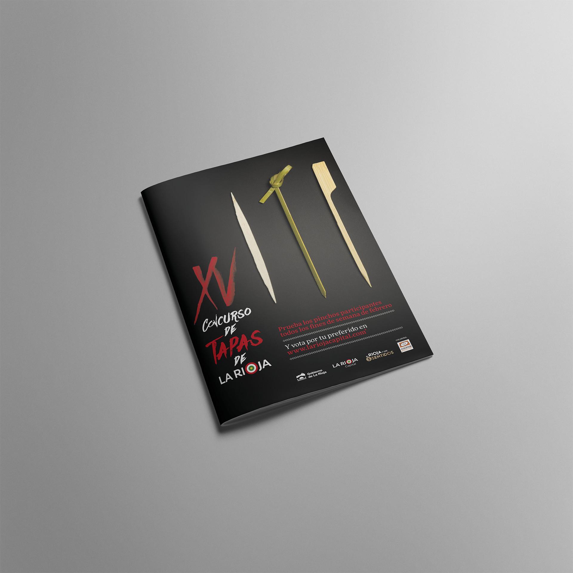 Diseño portada folleto XV concurso tapas La Rioja