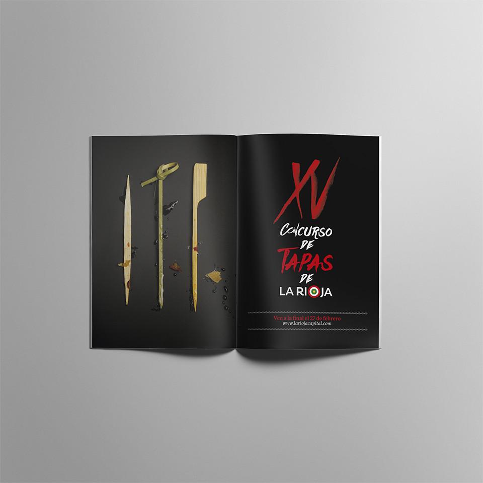 Presentación folleto XV concurso tapas La Rioja