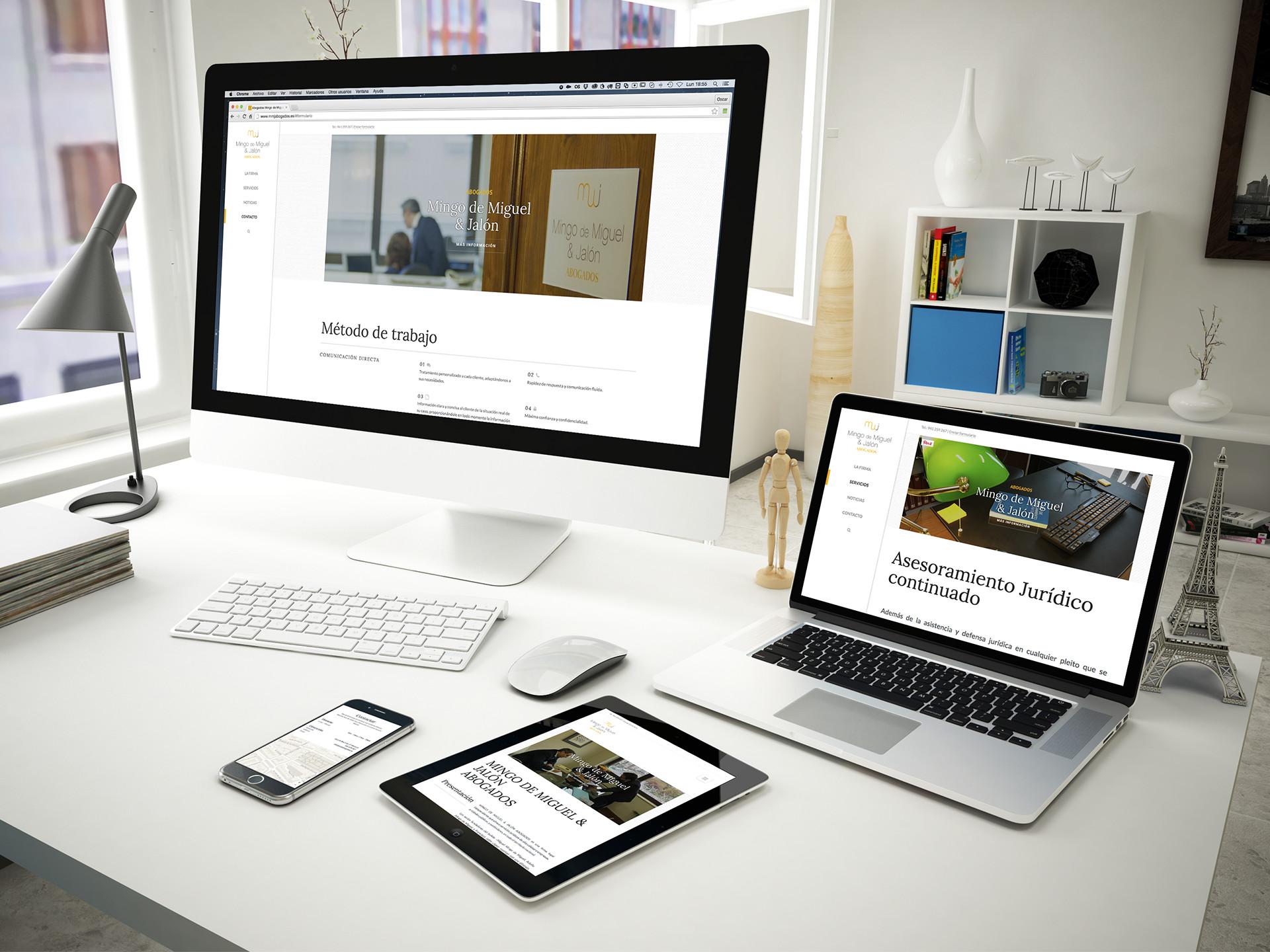 desarrollo web wordpress abogados la rioja