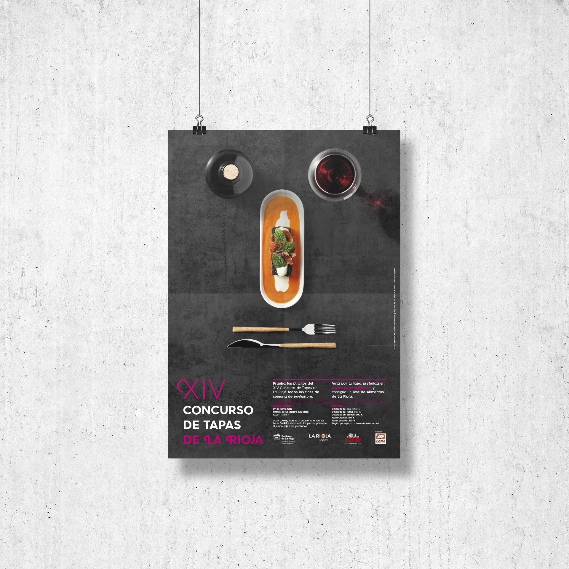 Diseño cartel XIV concurso de tapas de La Rioja