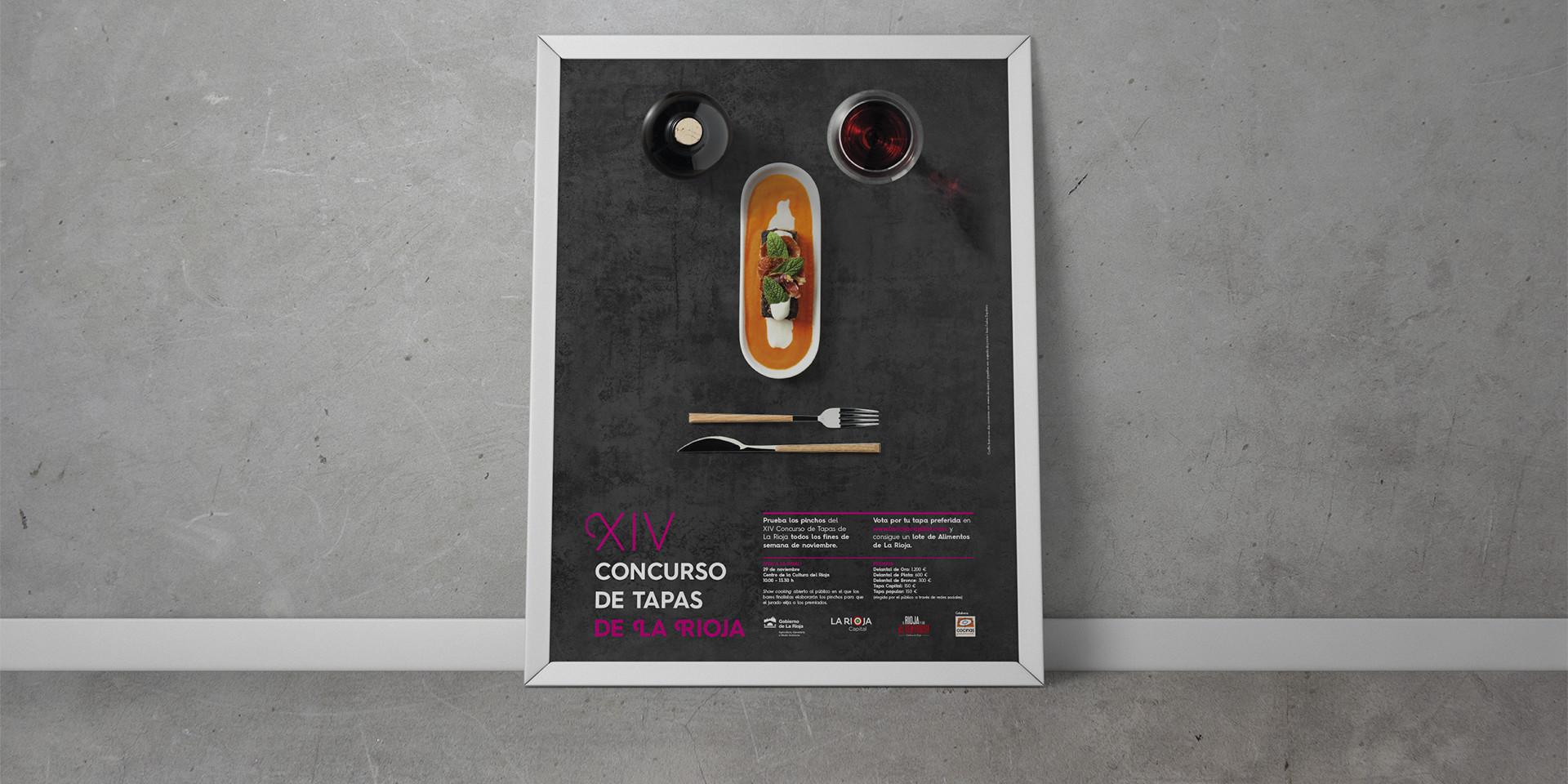 Diseño cartel XIV concurso de tapas de La Rioja 2014