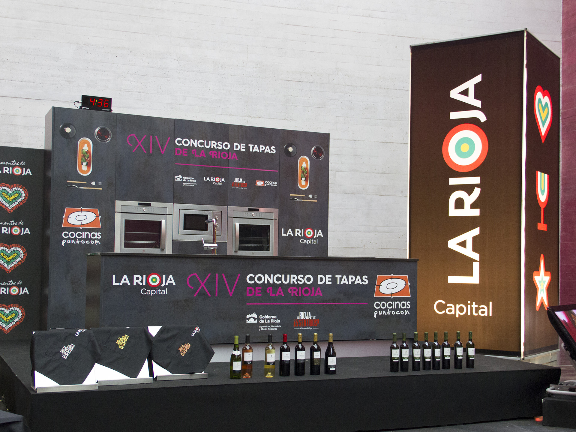 Diseño cocina evento XIV concurso de tapas de La Rioja