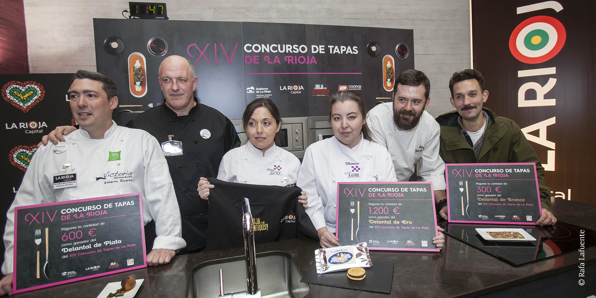 Diseño diplomas XIV concurso de tapas de La Rioja