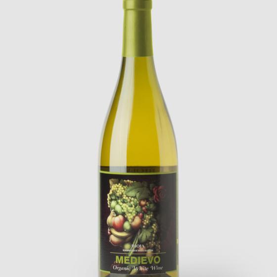 Diseño etiqueta vino Medievo Viura Orgánico