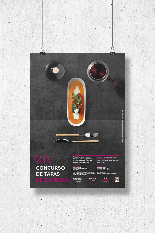 Diseño imagen XIV concurso tapas la rioja 2014