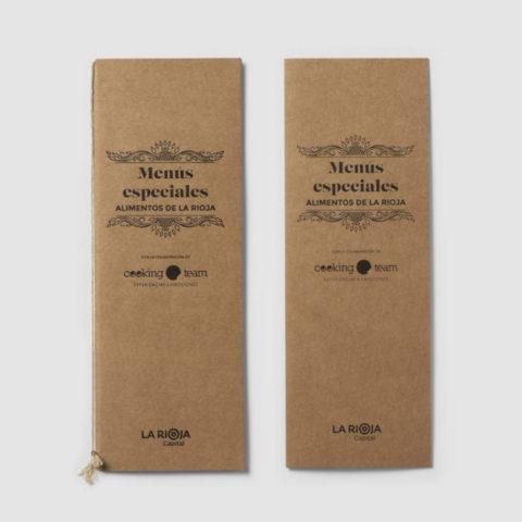 Diseño menús Alimentos de La Rioja