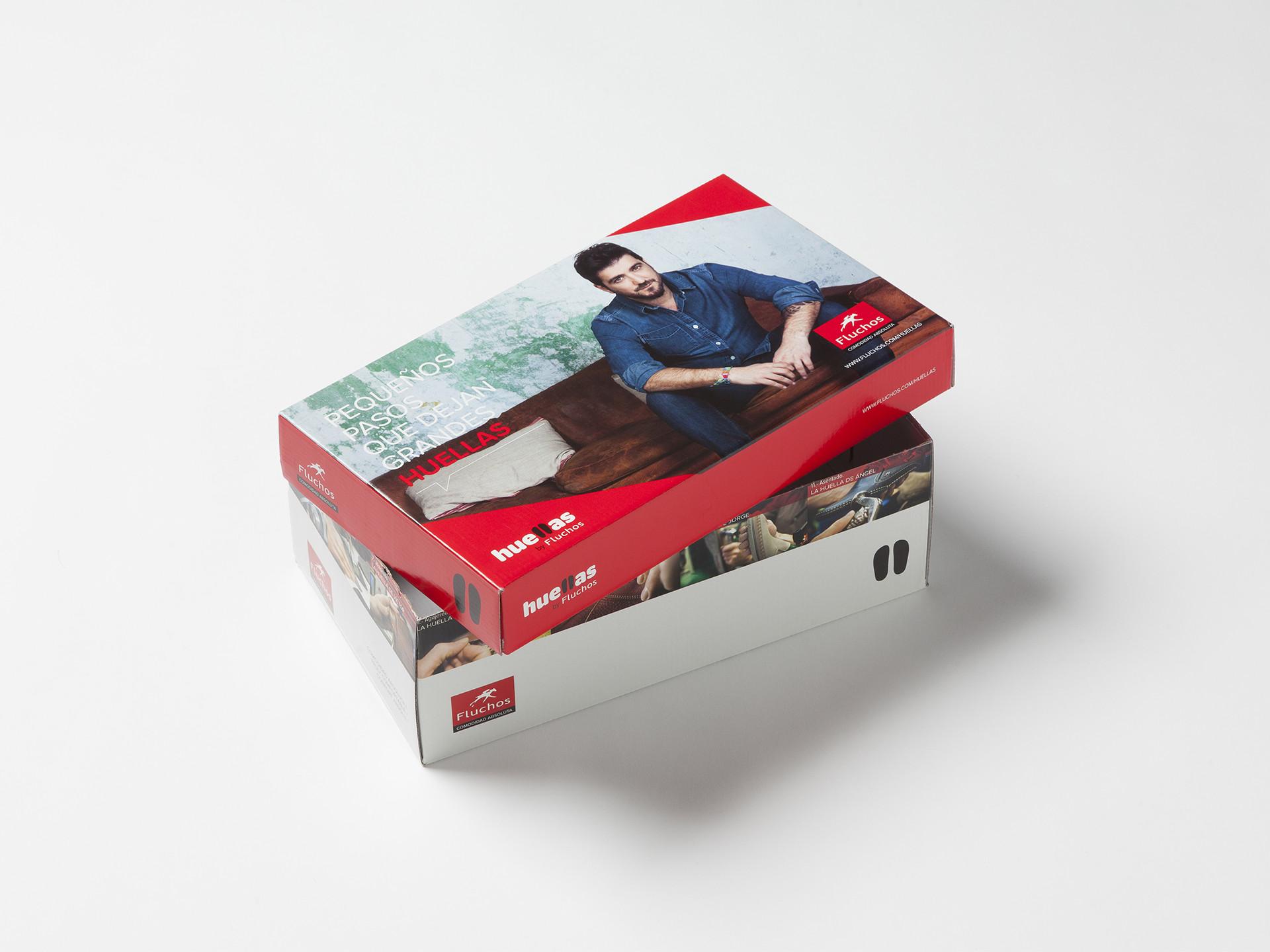 Diseño packaging calzado fluchos