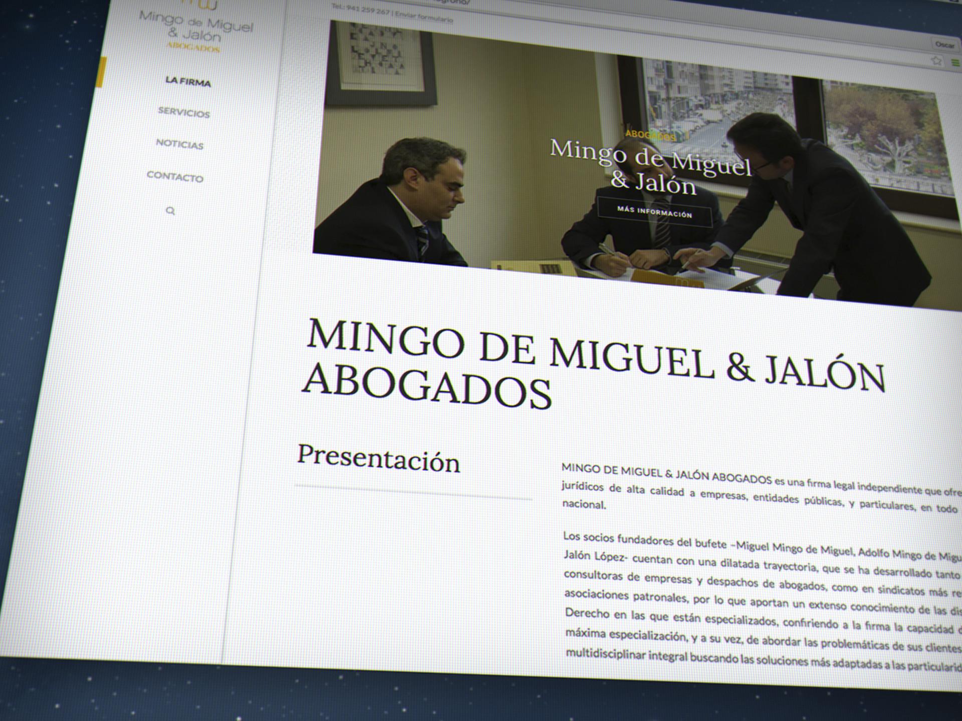 diseño página web abogados la rioja