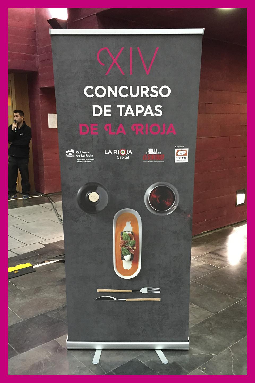 Diseño rollup XIV concurso de tapas de La Rioja