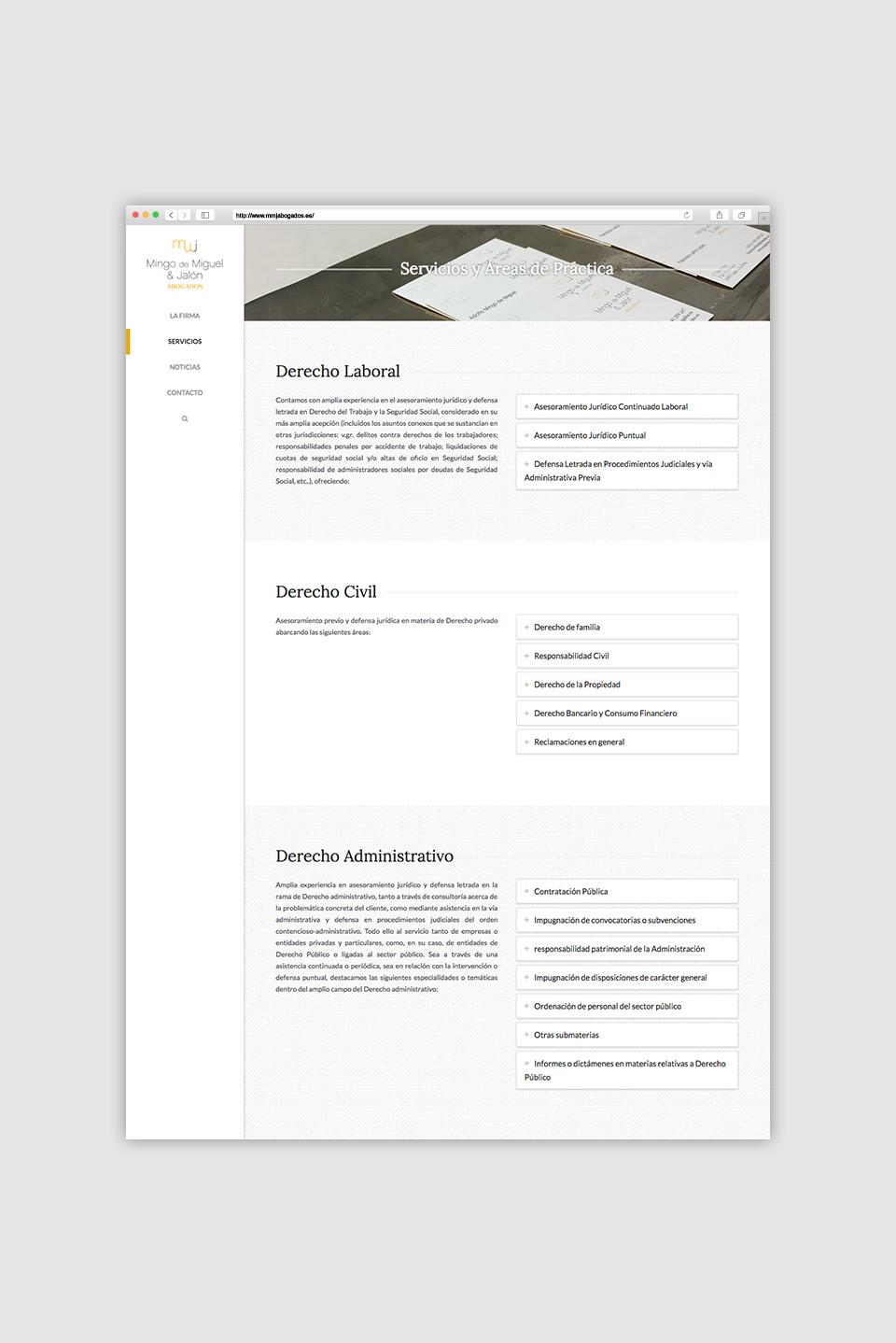 diseño web abogados mingo de miguel jalón logroño