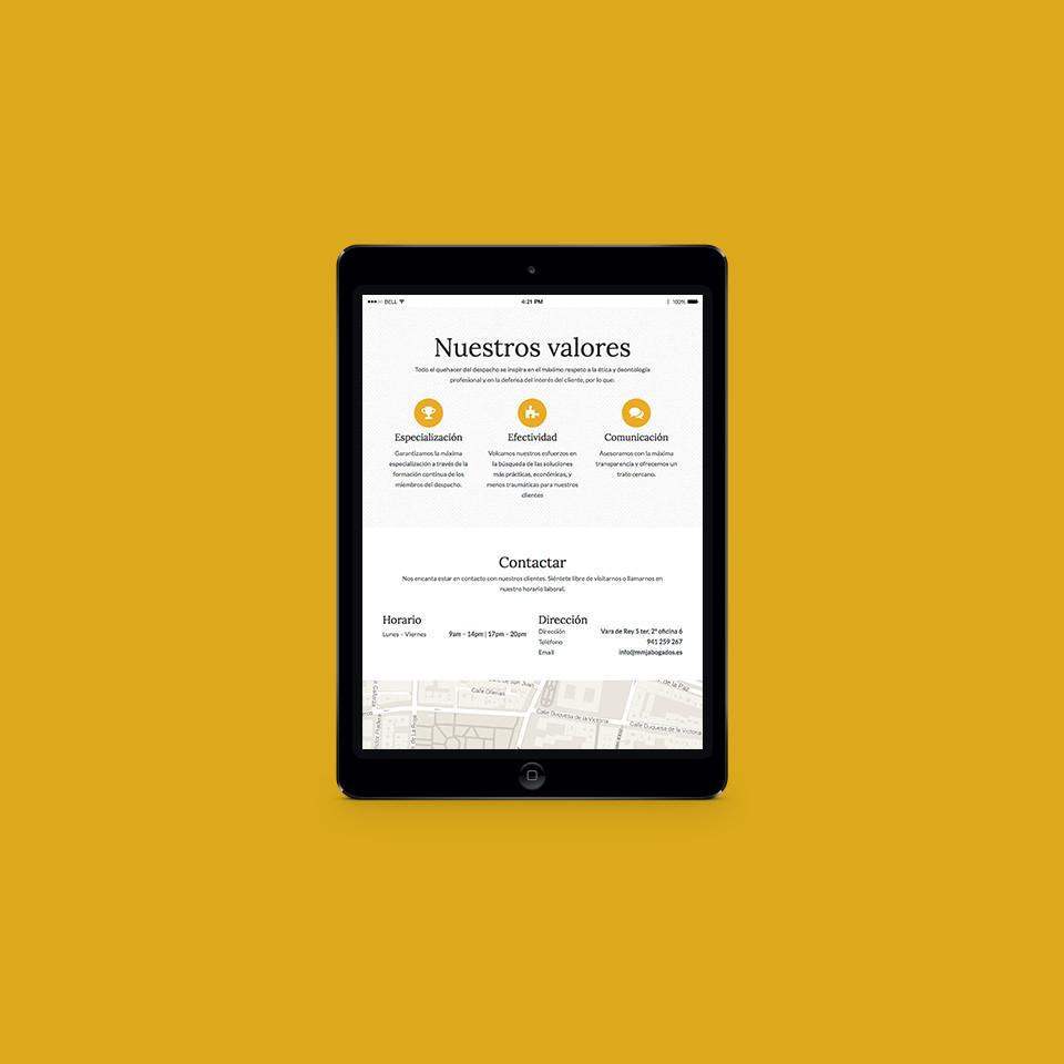 diseño web accesible abogados mmj la rioja