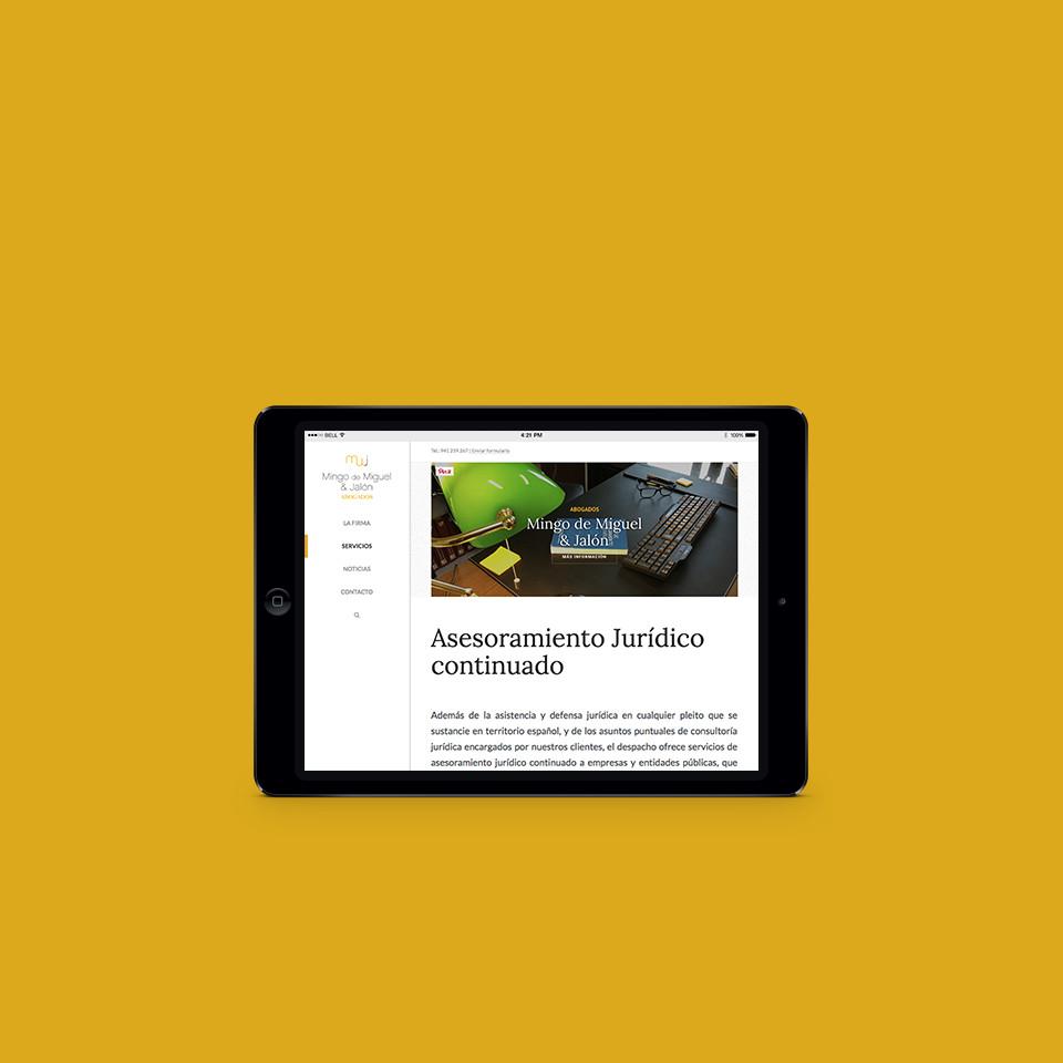 diseño web responsive abogados la rioja