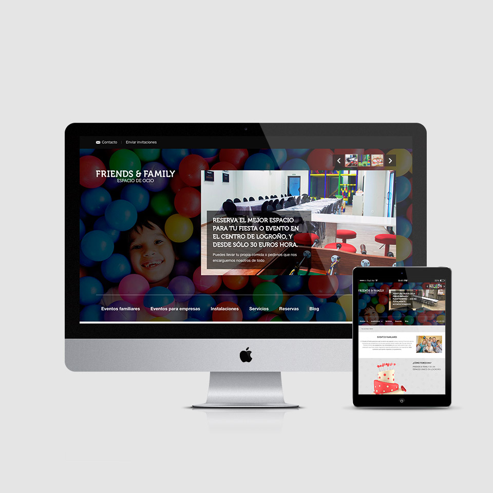 desarrollo web responsive-wordpress friends & family