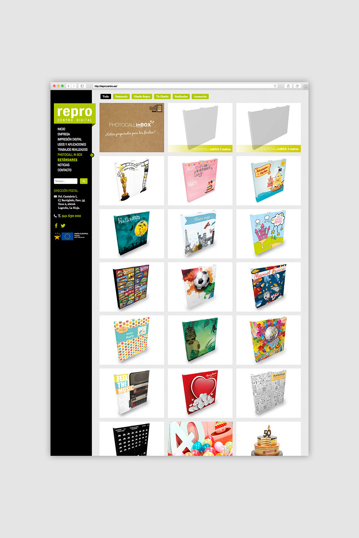diseño portafolio responsive typo3