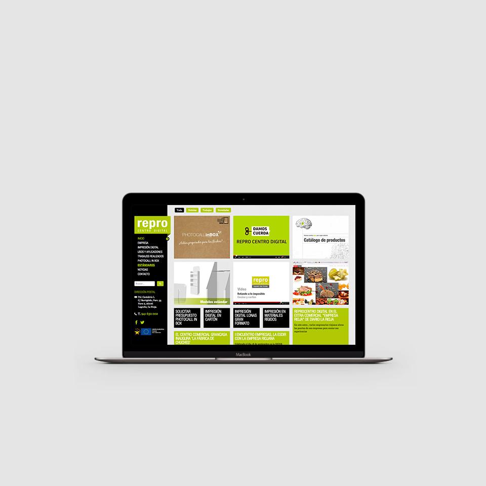 diseño web opensource typo3 reprocentro