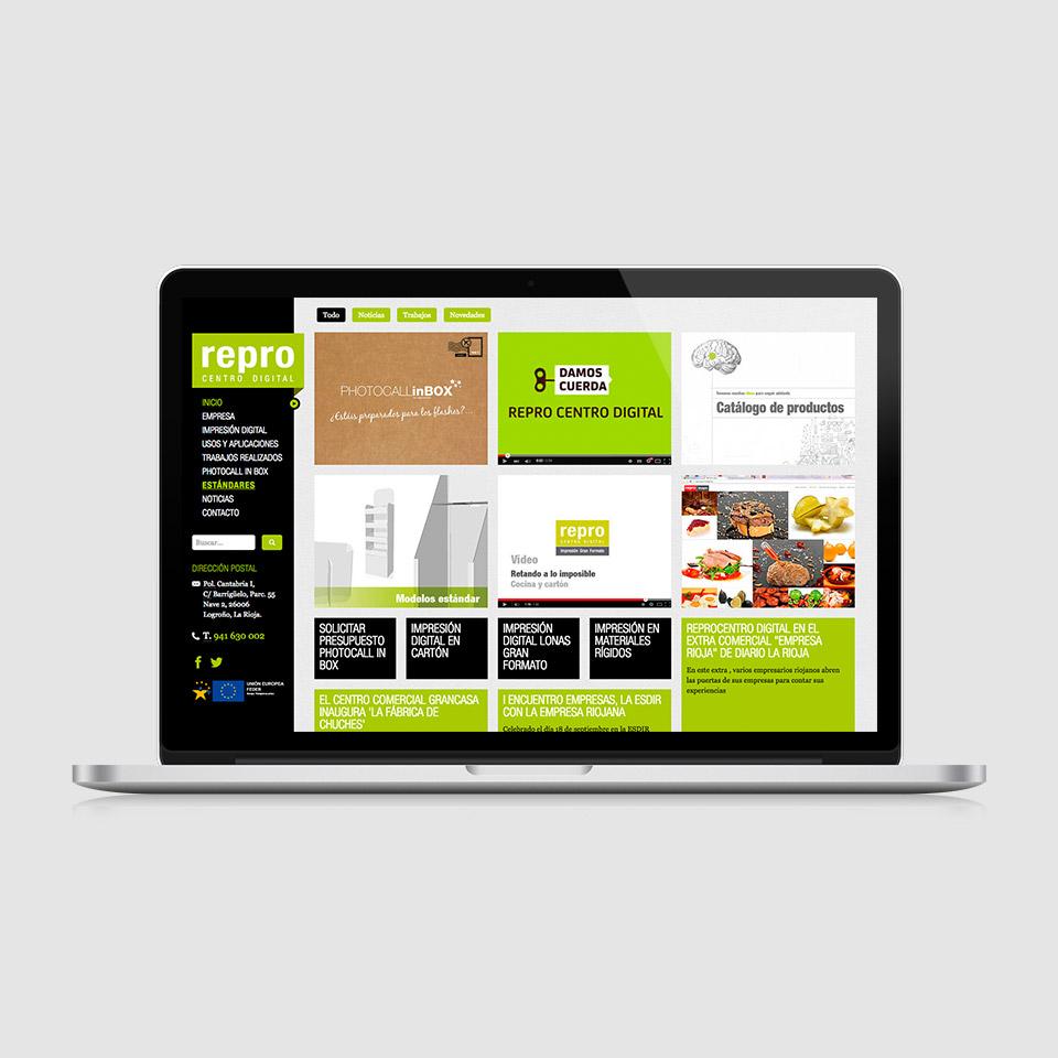 Diseño web responsive Reprocentro