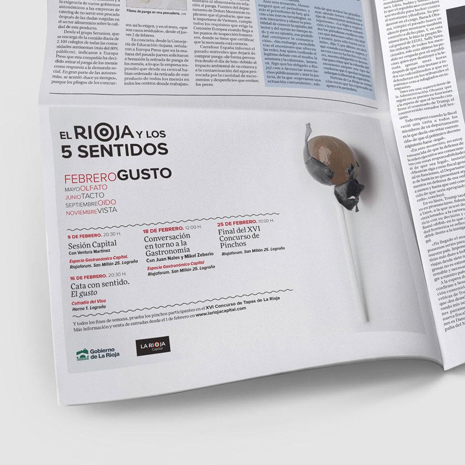 anuncio periodico faldon rioja y los 5 sentidos