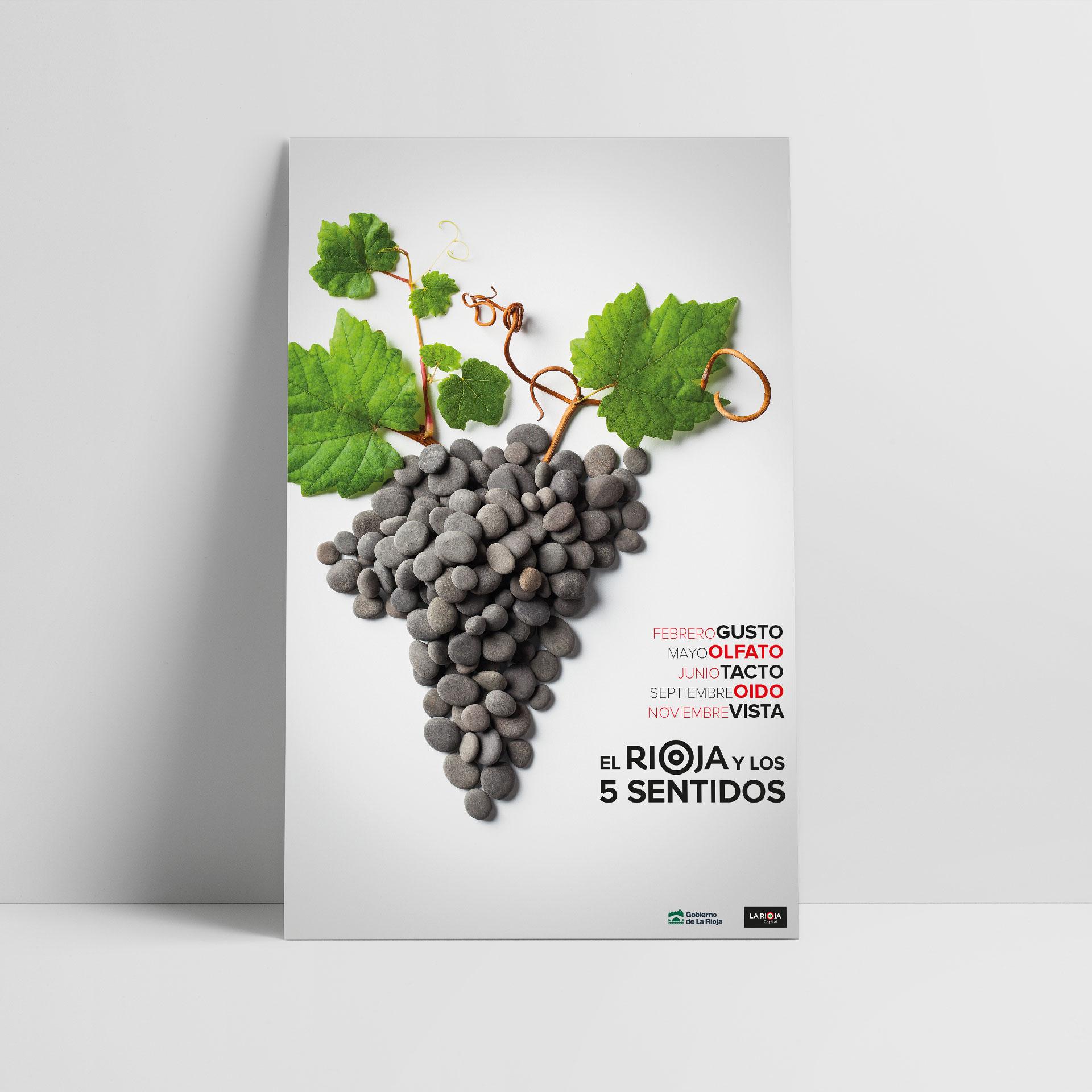 Diseño cartel el rioja y los 5 sentidos genérico 2017