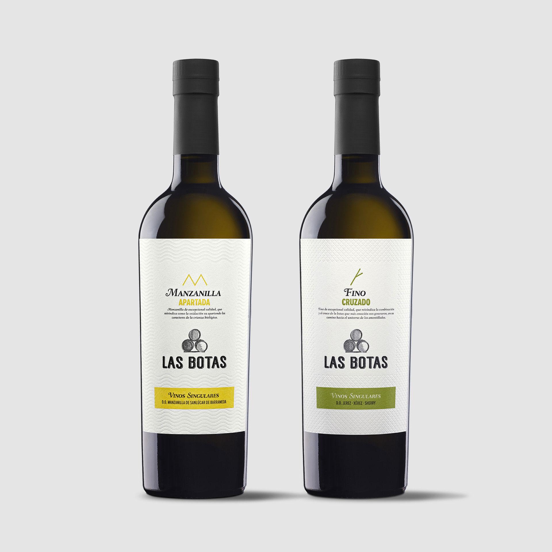 diseño etiqueta fino y manzanilla Jerez Sanlúcar de Barramedad Las botas