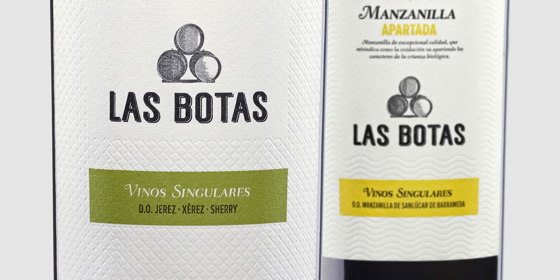 diseño packaging vino Jerez xerez sherry Manzanilla Sanlúcar de Barrameda Las Botas