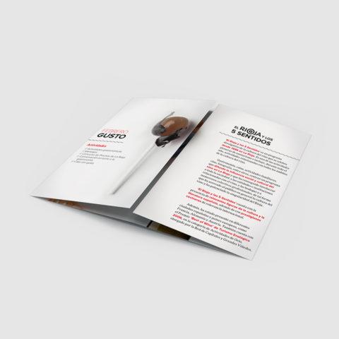 folleto el rioja y los 5 sentidos abierto