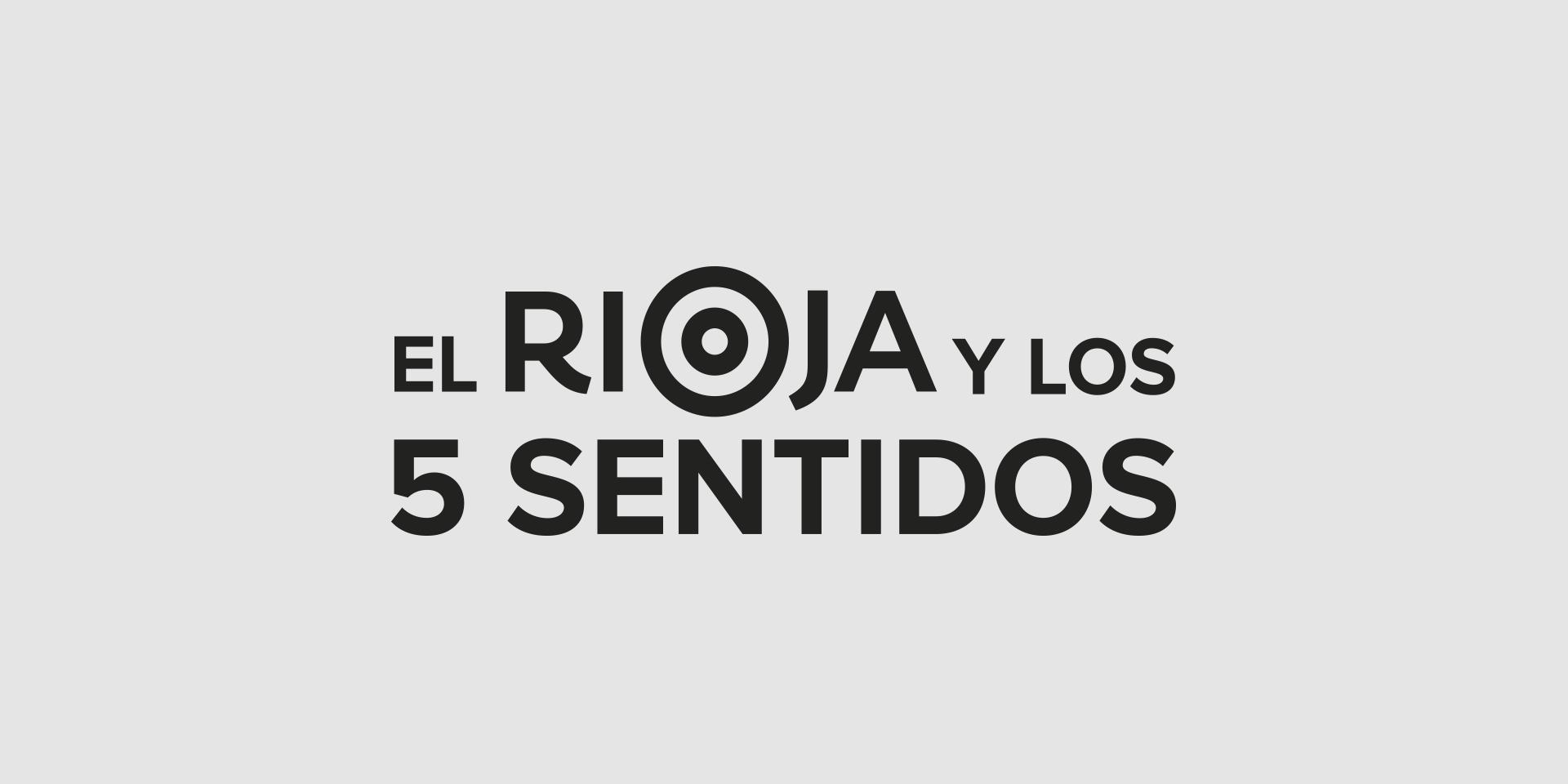 Diseño logotipo el rioja y los 5 sentidos