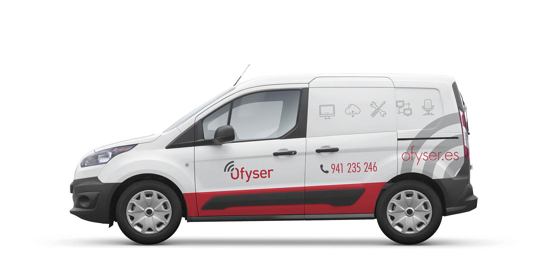 Diseño rotulación furgoneta Ofyser