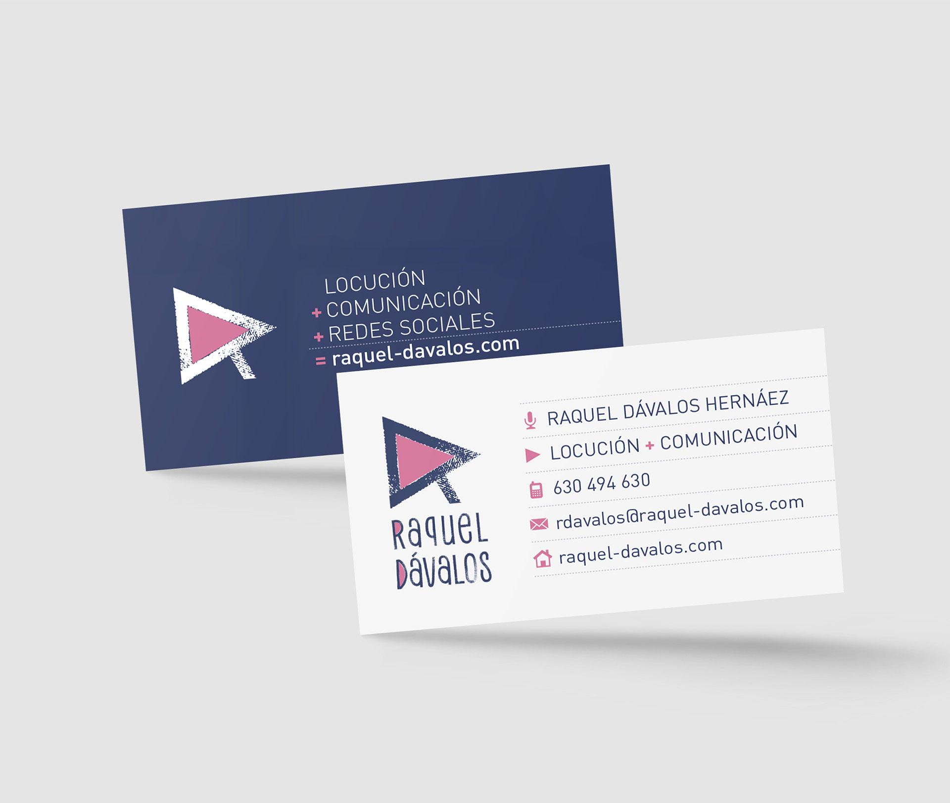 Diseño tarjeta raquel Dávalos
