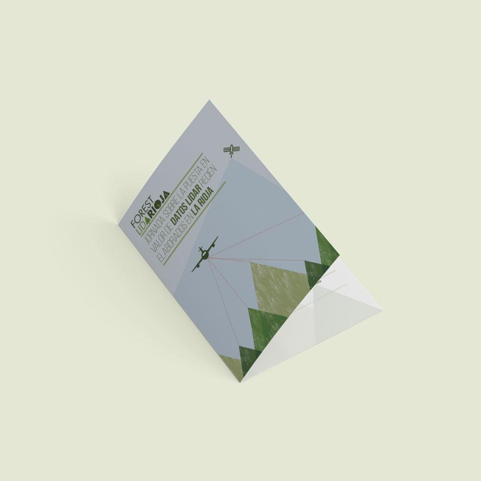 diseño díptico jornada Forest Lidarioja