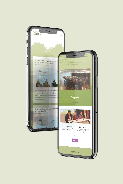 diseño web ux design forest lidarioja