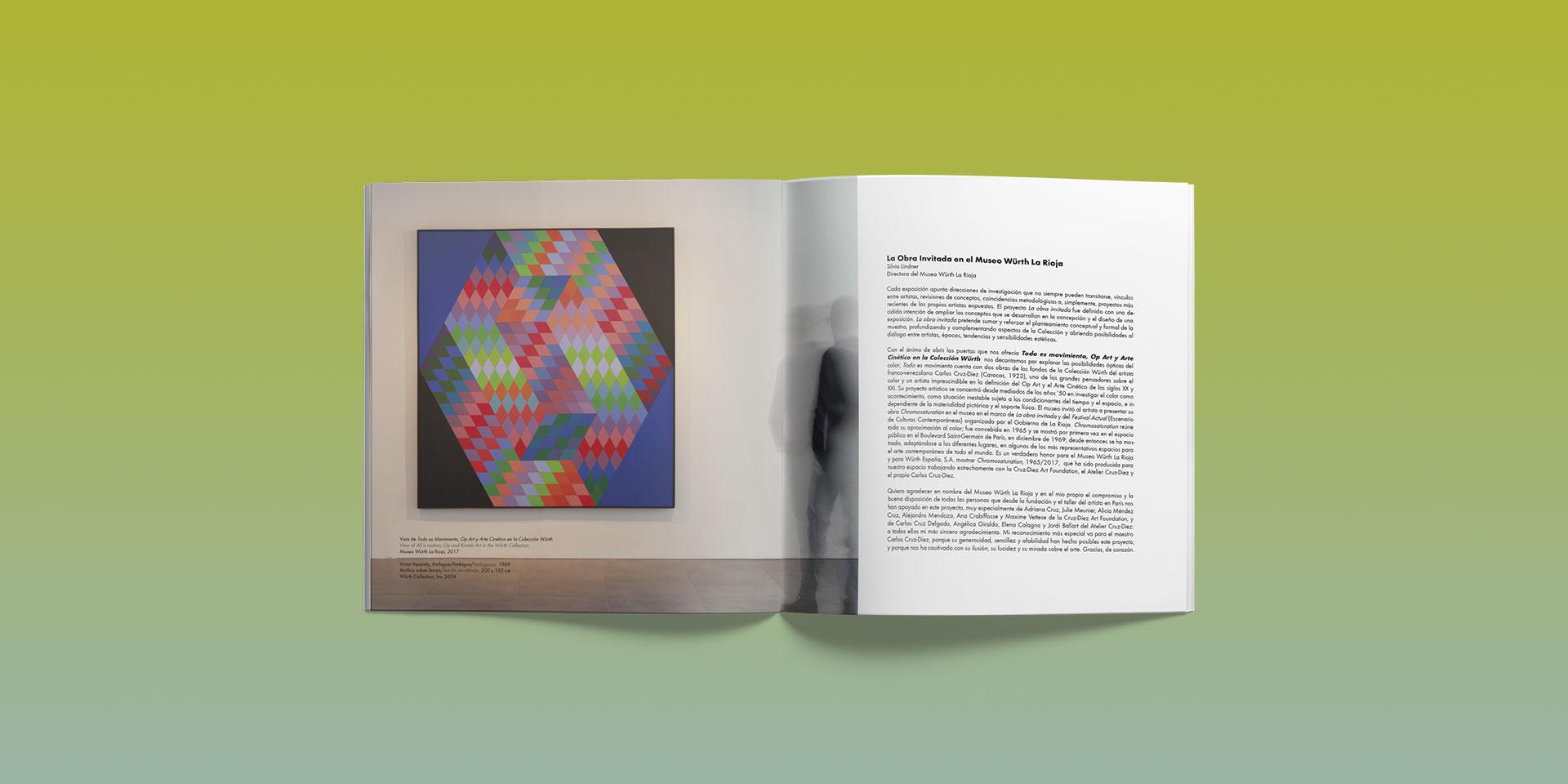 detalle catalogo exposicion chromosaturation museo wurth la rioja