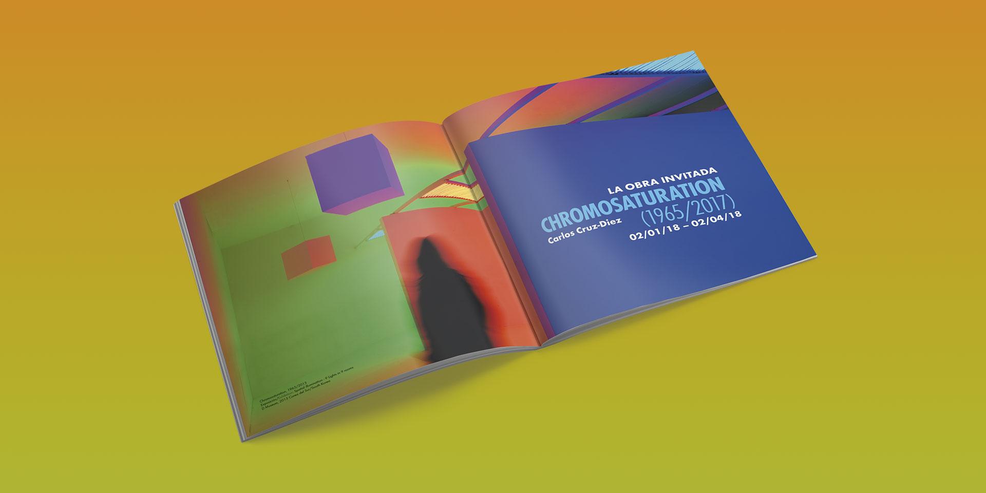diseño campaña exposicion chromosaturation museo wurth la rioja