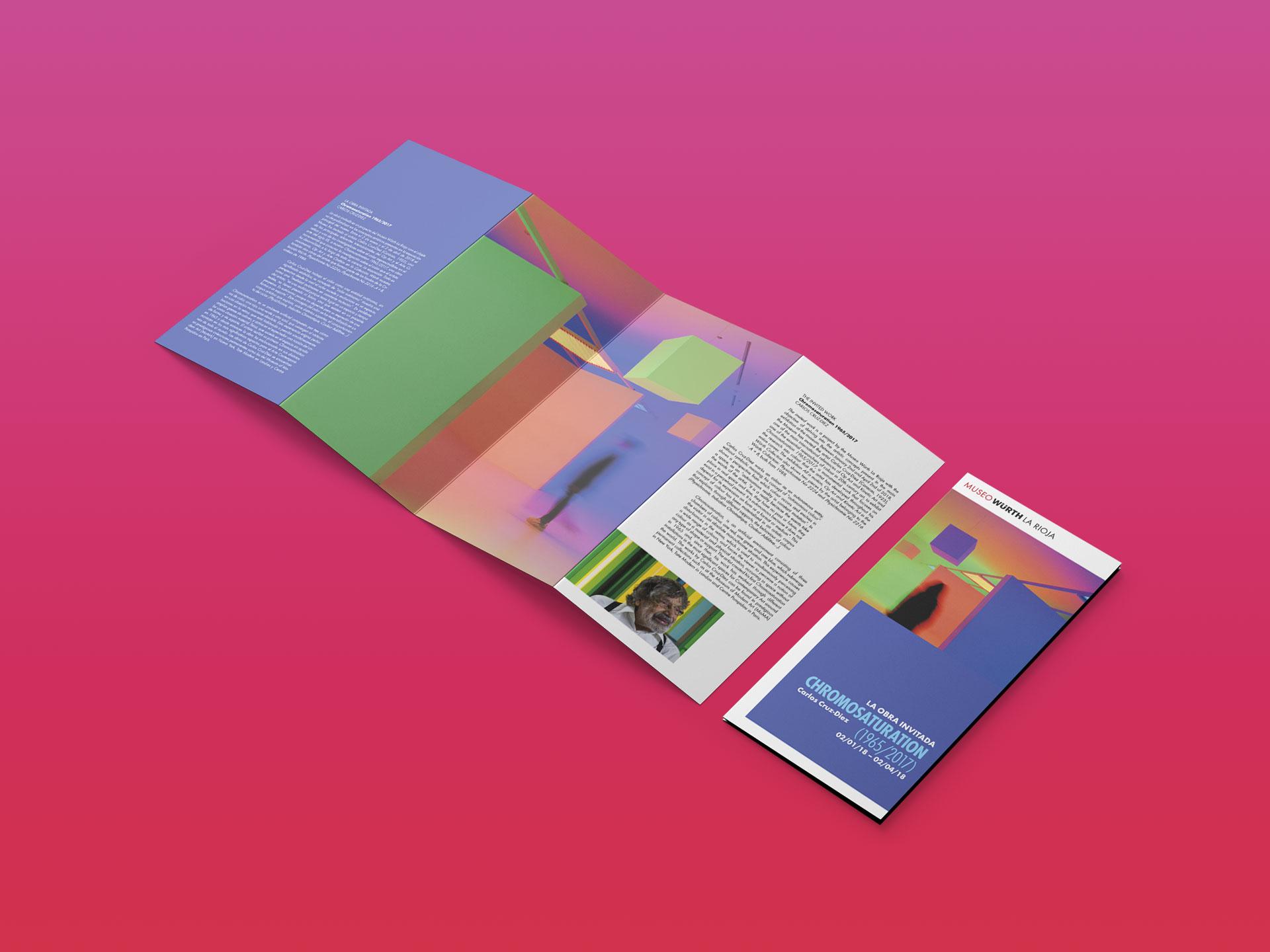 diseño folleto exposición chromosaturation museo wurth la rioja