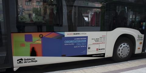 publicidad exterior exposicion chromosaturation museo wurth larioja
