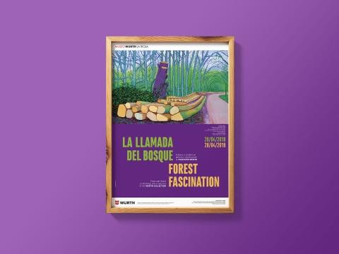 diseno cartel exposicion la llamada del bosque