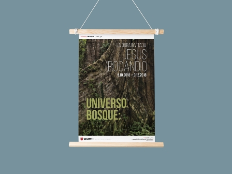 diseno cartel exposicion universo bosque amazonia