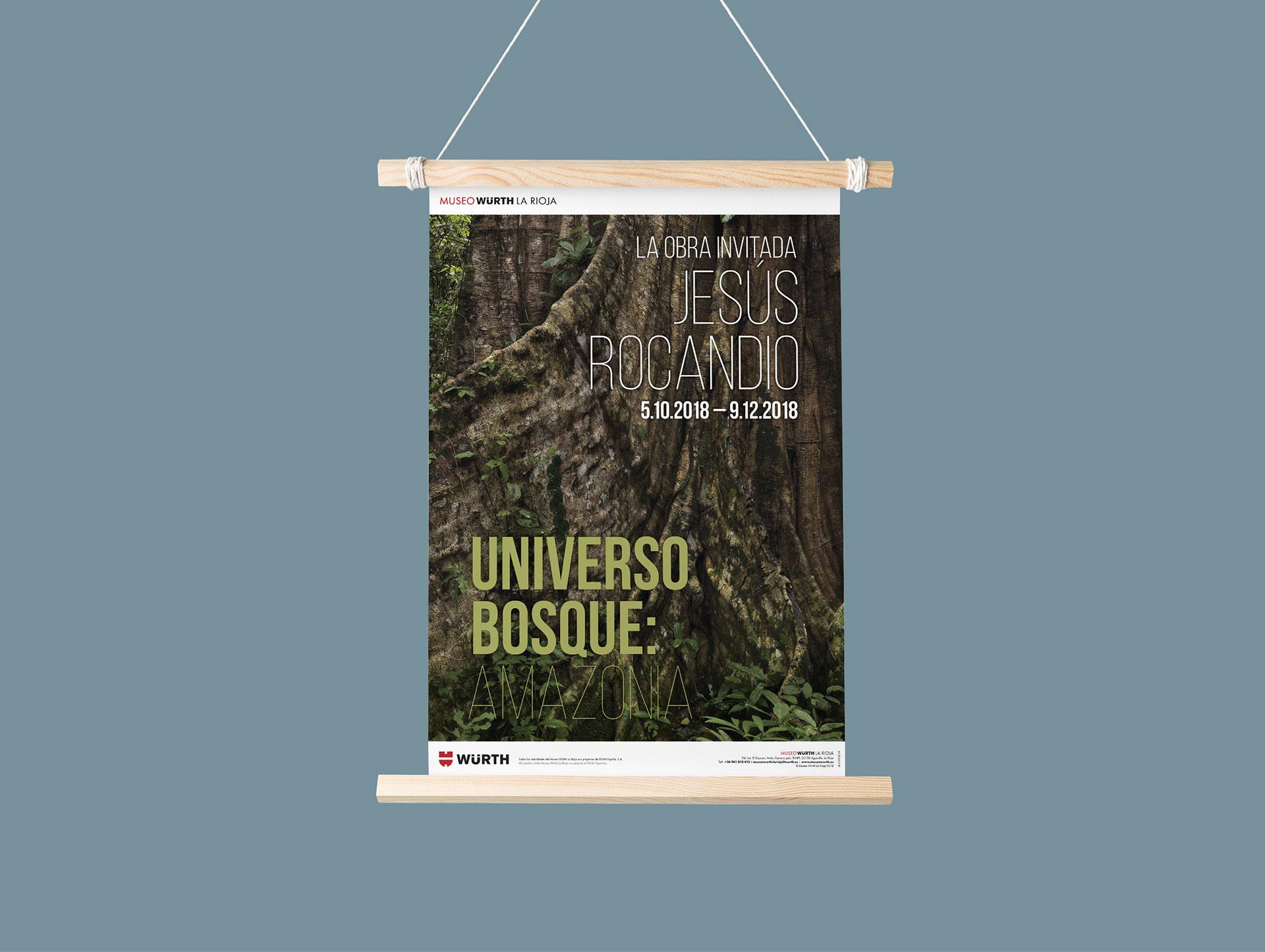 diseño cartel exposición universo bosque amazonía