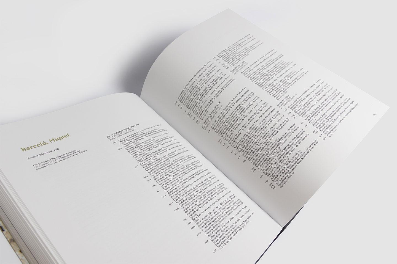 diseño catalogo arte cv miquel barceló