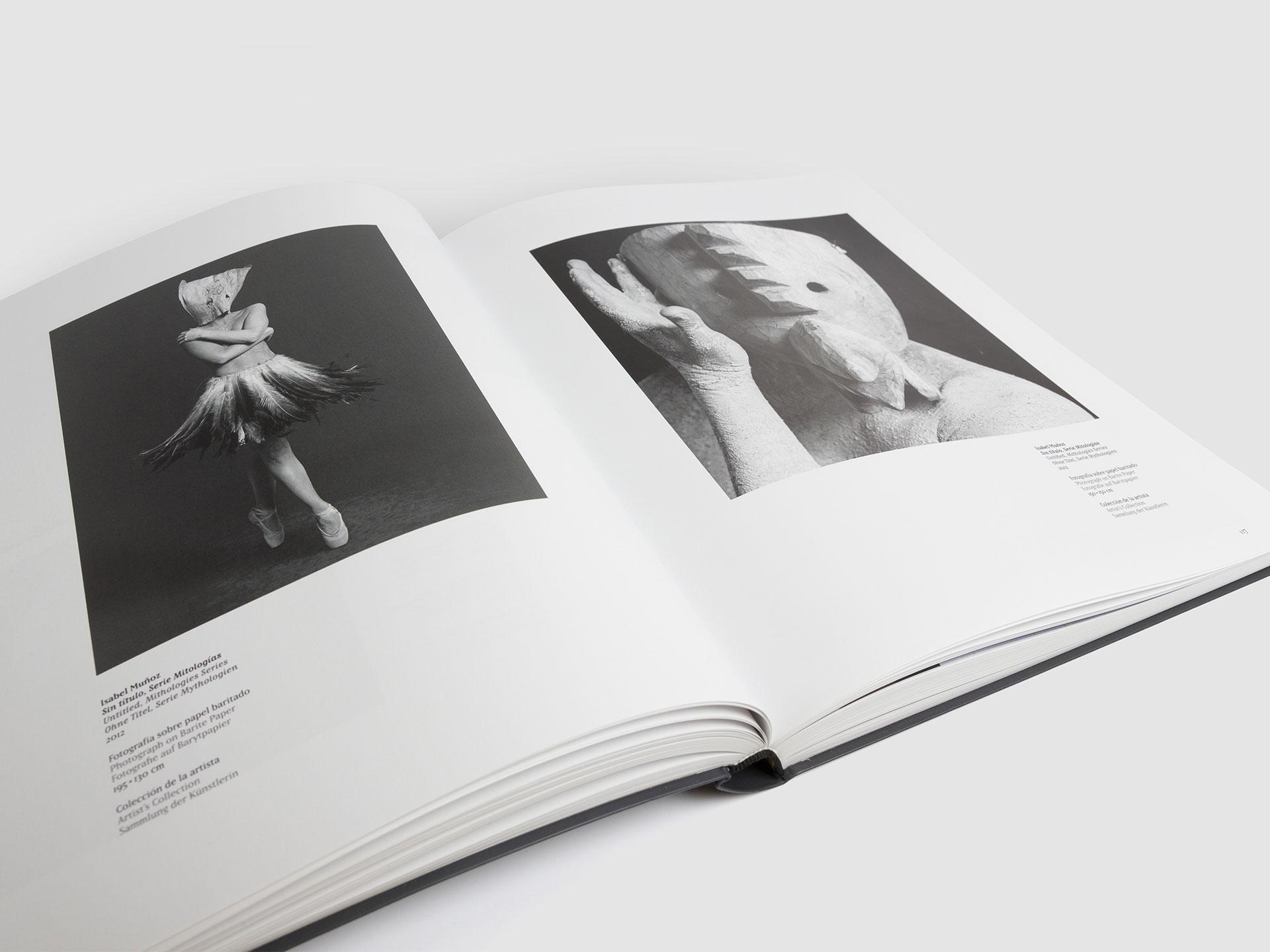 diseño catalogo arte español isabel muñoz